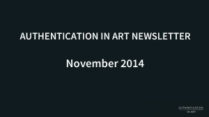 authentication art newsletter