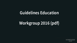 AiA Guidelines Education